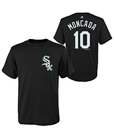 Majestic Yoan Moncada Chicago White Sox Official Player T-Shirt, Big Boys (8-20)