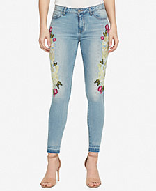 WILLIAM RAST Embroidered Embellished Skinny Jeans
