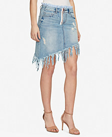 WILLIAM RAST Denim Asymmetrical Skirt