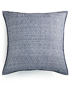 Lucky Brand Boro Cotton European Sham, Created for Macy's
