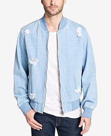 Levi's® Men's Ripped Denim Bomber Jacket