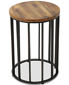 Paez Round Accent Table, Quick Ship