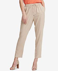 DKNY Drawstring Pull-On Straight-Leg Pants, Created for Macy's