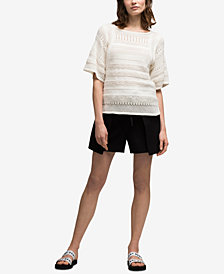 DKNY Textured-Stripe Knit Sweater, Created for Macy's