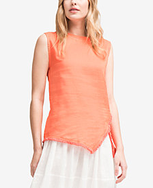 DKNY Linen Asymmetrical Top, Created for Macy's