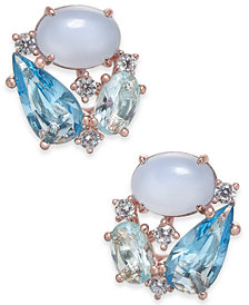 Danori Openwork Crystal Stud Earrings, Created for Macy's