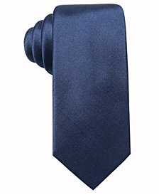 Alfani Men's Solid Slim Silk Tie, Created for Macy's