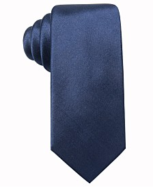 Alfani Men's Solid Slim Silk Tie, Created for Macy's