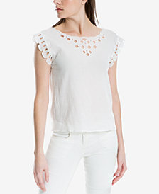 Max Studio London Cotton Eyelet Top, Created for Macy's