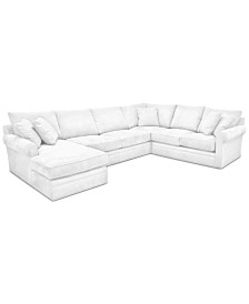 Doss II 4-Pc. Fabric Chaise Sectional Sofa