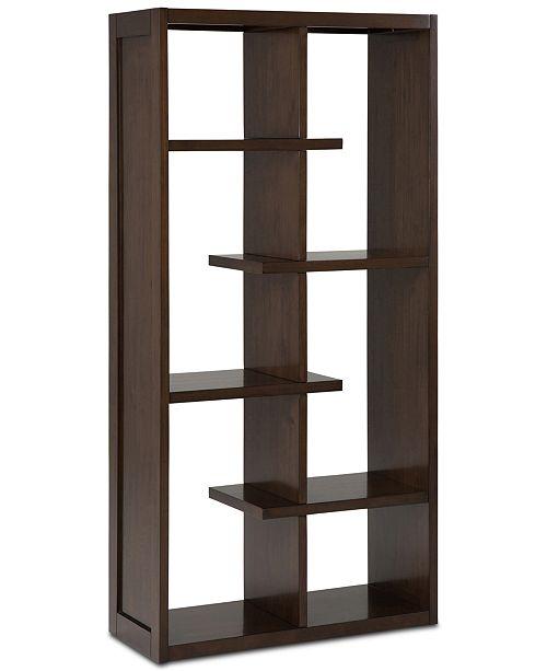 Simpli Home Risten Bookcase, Quick Ship
