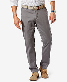 Dockers Men's Athletic Fit Washed Khaki Stretch Pants