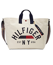 Tommy Hilfiger Arona Printed Canvas Logo Weekender, Created for Macy's