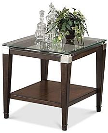Silverado Glass Top Rectangular End Table