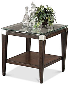 Silverado Glass Top Rectangular End Table