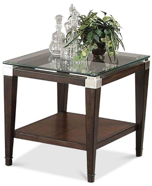 Brilliant Silverado Glass Top Rectangular End Table Creativecarmelina Interior Chair Design Creativecarmelinacom