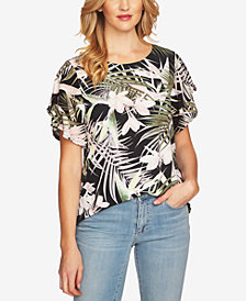 CeCe Ruffle-Sleeve Top