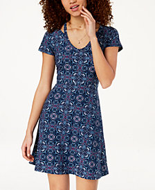 Ultra Flirt Juniors' Cold-Collar Skater Dress
