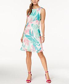 Nine West Printed A-Line Dress