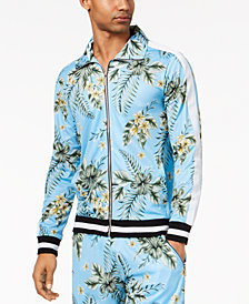 American Stitch Men's Floral-Print Full-Zip Mesh Track Jacket