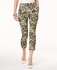 I.N.C. Camouflage Cropped Pants, Created for Macy's