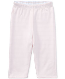 Ralph Lauren Reversible Striped Cotton Pants, Baby Girls