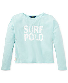 Polo Ralph Lauren Embroidered French Terry Sweatshirt, Big Girls