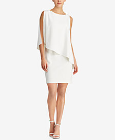 Lauren Ralph Lauren Asymmetrical Crepe Dress