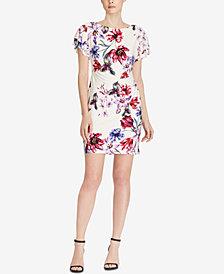 Lauren Ralph Lauren Petite Floral-Print Flutter-Sleeve Dress