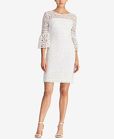 Lauren Ralph Lauren Bell-Sleeve Lace Dress