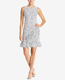 Lauren Ralph Lauren Polka-Dot Georgette Dress, Regular & Petite Sizes