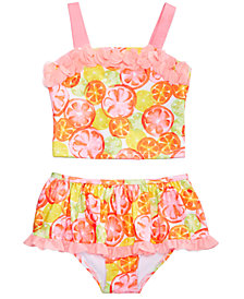 Penelope Mack 2-Pc. Citrus-Print Tankini, Little Girls