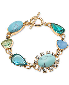 Carolee Gold-Tone Crystal & Multi-Stone Flex Bracelet