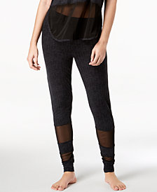 Ande Lush Luxe Mesh-Panel Jogger Pajama Pants