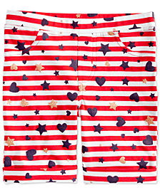Epic Threads Toddler Girls Striped Printed Bermuda Shorts, Created for Macy's