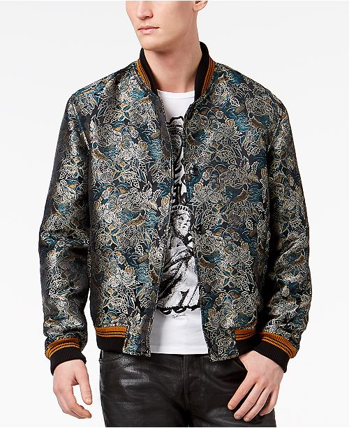 1976737cf Just Cavalli Men's Savana Print Bomber Jacket & Reviews - Coats ...