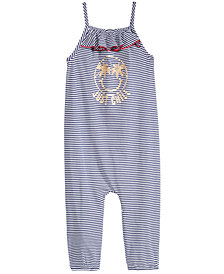 Epic Threads Little Girls Striped Graphic-Print Romper, Created for Macy's