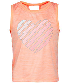 Ideology Little Girls Heart-Print Tank, Created for Macy's