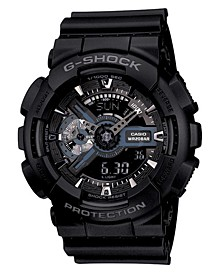 Men's Analog Digital Black Resin Strap Watch, 55mm GA110-1B