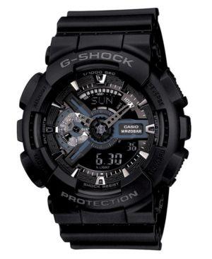 G-Shock Men's Analog Digital Black Resin Strap Watch GA110-1B
