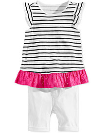 First Impressions Baby Girls Striped Tunic & Bermuda Shorts Separates, Created for Macy's
