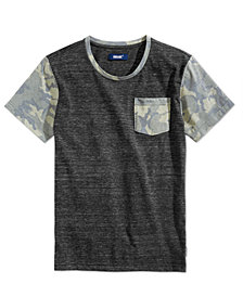 Univibe Big Boys Camo-Print Pocket T-Shirt