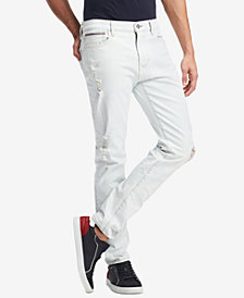 Tommy Hilfiger Men's Slim-Fit Bleached Indigo Jeans, Created for Macy's