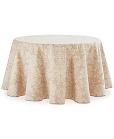 "Waterford Berrigan Rust 90"" Round Tablecloth"