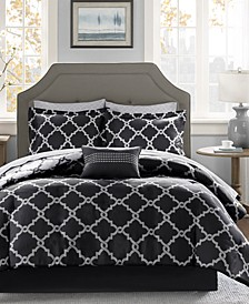 Merritt Reversible 9-Pc. Full Comforter Set