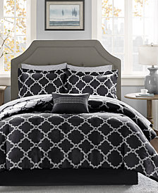 Madison Park Essentials Merritt Reversible 9-Pc. Queen Comforter Set