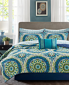 Madison Park Essentials Serenity 8-Pc. California King Coverlet Set