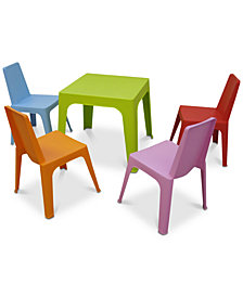 Julieta Kids 5-Pc. Dining Set, Quick Ship
