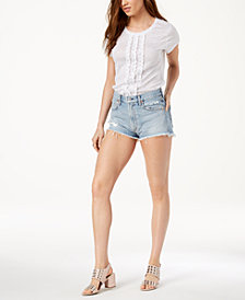 Citizens of Humanity Danielle Cotton Cutoff Denim Shorts