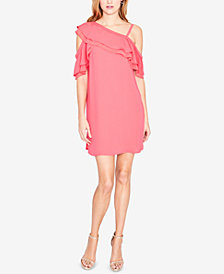 RACHEL Rachel Roy Asymmetrical Cold-Shoulder Dress